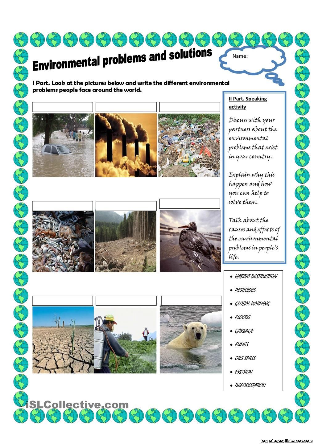 what environmental problems does your area face essay Developing countries and problems they face our e-waste is harming the environment and developing countries essay - what is e-waste.